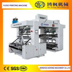 기계를 인쇄하는 4개의 색깔 PLC 통제 고속 처분할 수 있는 비 길쌈된 피복 또는 플레스틱 필름 또는 종이 봉지 Flexo