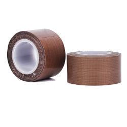 Cinta adhesiva de tela con revestimiento de PTFE adhesivo de fibra de vidrio recubierto de PTFE autoadhesiva de fibra de vidrio.