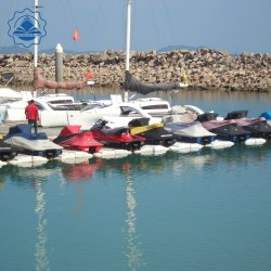 Carrozas de plástico para el Jet Ski Dock Pontoonfloating trabajo