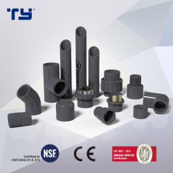 ASTM Sch80 CPVC/PVC 플라스틱 캡 고압 피팅 뜨거운 물과 차가운 물에 대한 OEM(TEE 엘보우 어댑터)