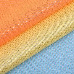 中国メッシュファブリックポリエステル 100% ニットメッシュファブリックテキスタイル裏地 スポーツウェアに最適なマイクロファイバー製のブラッシュドメッシュ素材