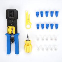 コネクターおよびブートRJ45の圧着工具の一定キットを通した50PCSパス