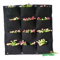 포켓 수직 벽 정원 플래터, 정원 실내 야외용 벽걸이 자루
