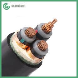 3CX300sq.mm 36kV kV 19/33Cu/cuivre avec isolation XLPE/PVC MV Câble d'alimentation 33/11souterrain pour le poste de kV
