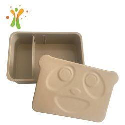 Diseño moderno juego de vajilla Microwafe cascarilla de arroz recipiente seguro fibra natural Bento Box
