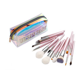 Borstelsets Make-up Cosmetica 11PCS zacht Custom White Eye Hair Tools Logo item stijl Time Beauty