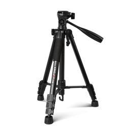 KingJoy 휴대용 알루미늄 카메라 삼각대 스탠드(팬 헤드 포함