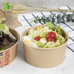 Salada de papel Tigela com tampa de plástico