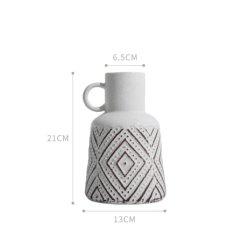 La moda al por mayor de flores de porcelana Jarrón Decoracion Alta calidad de estilo bohemio cerámica Jarrón jarrones de cerámica moderna flor