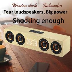 공장 가격 슈퍼 베이스 빈티지 클래식 무선 목재 컴퓨터 모바일 휴대용 미니 레트로 우드 Bluetooth 스피커