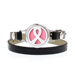 Il metallo perfezionamento i monili di modo del Wristband del cuoio del diffusore dell'olio essenziale con la decorazione del braccialetto di marchio dell'incisione