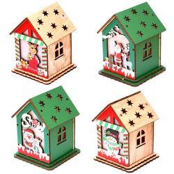 아이들 Handmade DIY 나무로 되는 집 다채로운 크리스마스 나무로 되는 집