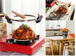 3-10L Non-Toxic Kichenware bote de cristal de utensilios de cocina Caldera Holloware Stewpot Pan recipiente de cocina