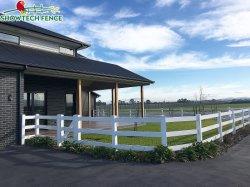 Vinil bovini 3 rotaie PVC Paddock Farm Fence Post Ranch bianco