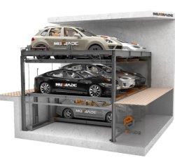 고품질 유압식 이동식 주차장 주차 리프트 저렴한 비용 값싼 스틸 세레오 차고
