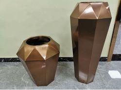 Custom Grande Flor de Aço Inoxidável Altos Caixa da Plantadeira Flower Pot vaso