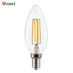 LED de Controle WiFi lâmpadas de incandescência Vintage luz LED C35 C37 2W velas LED da intensidade de luz da lâmpada E14 E27 Base com marcação RoHS