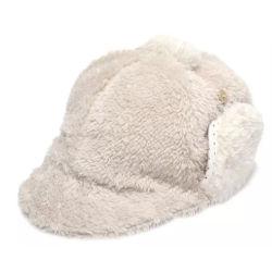 Precio barato Custom Color sólido Forro Polar cálido invierno Vintage lindo gorra de béisbol con Earflap