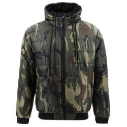高品質の冬の暖かく重いナイロンパッファーの泡可逆Camoの超軽量のキルトにされた綿によってパッドを入れられたパッディングは人のためのParkaのフード付きのジャケットに塗る
