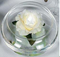 수영장 장식을 위한 디럭스 화이트 로즈 플로팅 LED 꽃