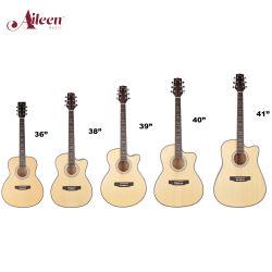 OEM della fabbrica della Cina chitarra acustica dell'allievo tagliato del compensato dell'abete rosso da 41 pollice (AF168CW-41)