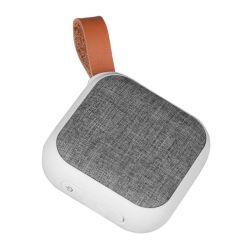 Mini altoparlante portatile di Bluetooth, Gray, tessuto con la maniglia di cuoio