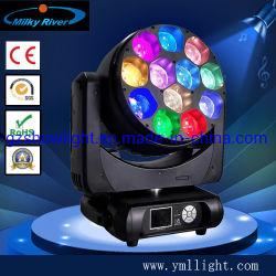 12PCS 40W RGBW 4in1 LED 세탁기 단계 이동하는 맨 위 광속 급상승 세척 효력 빛