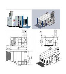 중국 제품/공급업체. 디젤 또는 가스 또는 전기 가열식 트럭/자동 세미 다운드래프트 차량용 페인트 부스/이코노미 스프레이 부스 페인트 부스(부스) 카 스프레이 룸
