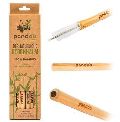 Jmbambu Custom Logo Bamboo bere paglia con pennello
