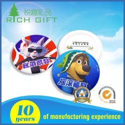Отличное качество логотипа пластиковую кнопку значка булавка печать рок и Cute тибетского Mastiff Dog шаблон для предохранительного штифта сувенир