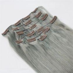 Clip en Extensions de cheveux 100% vierge authentique Remy Cheveux humains de l'argent directement 7PCS Cheveux épais fin double appelée