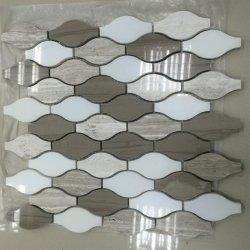 Bianco Carrara 백색 대리석 모자이크 타일, 모자이크 벽 훈장