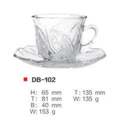 Milieuvriendelijke, herbruikbare koffiekopset van glas