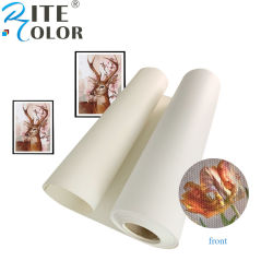 """24'' 36'' 60"""" Matte Polyester 380gsm de l'impression jet d'encre du rouleau de tissu de toile d'art"""