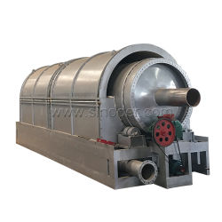 Überschüssige Plastikpyrolyse-Pflanzengummireifen, die Pyrolyse-Reaktor-Brennöldestillieranlage der Maschinen-10t/D mit gutem Service aufbereiten