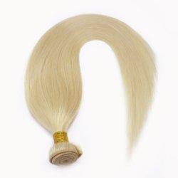 Hochwertiges Jungfrau Remy Haar-Extensions-Licht-goldene Blondine #613 kein trockenes keine Verwicklung kein verschüttendes langlebiges Gut Using Zeit