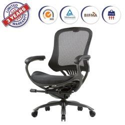 Malla de alto ergonómico silla ejecutiva de la placa giratoria con altura ajustable Reposabrazos y soporte lumbar para oficina en casa (LYL)