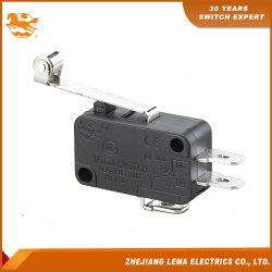 KW-7-2 palanca de rodillo metálica larga CCC Micro interruptor eléctrico
