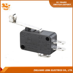 Lema Kw-7-2 Palanca de rodillo de metal larga Micro interruptor CCC