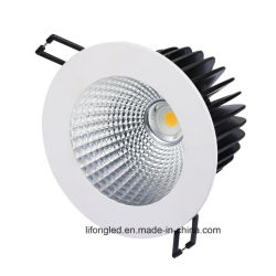 7With9With12W /18W Triac/0-10V/Dali Dimmableによって引込められるLEDの穂軸Downlight