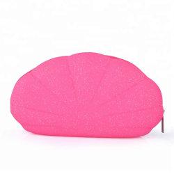 Красочные Shell силикон макияж мешок с застежкой на молнию косметический дамской сумочке