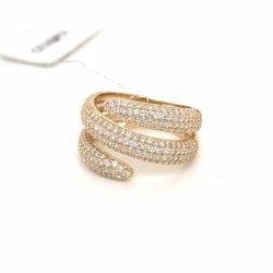 925 Silver K Gold Fashion Fancy jóias do Anel