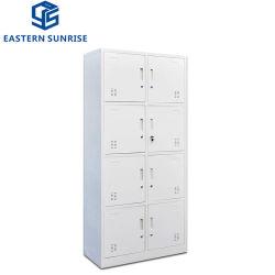 Mudar de quarto de banho 8 portas de aço de metal armário guarda-roupa de armário de ferro