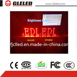 Hotsale Outdoor seul module d'affichage à LED de couleur rouge brique