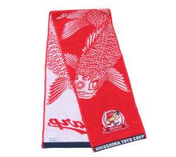 Embleem van de douane drukte de Promotie van de Katoenen van de Jacquard Handdoek van de Verzameling Hand van de Sport af
