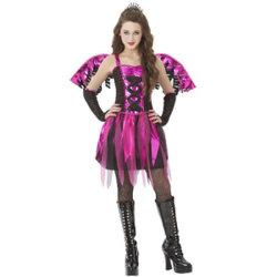 子供のFiestyの妖精の衣裳の子供のゾンビの女王党Halloweenの衣裳