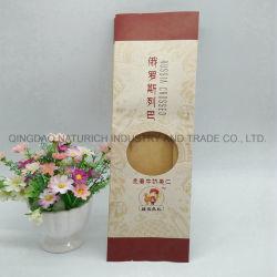 Imprimé à la boulangerie de qualité alimentaire Brown sulfurisé Pain de papier kraft sacs d'Emballage avec fenêtre claire