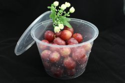 1000ml de plastic Doos van de Container van het Voedsel van de Microgolf Meeneem Beschikbare Rechthoekige