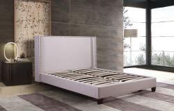 Tissu polyester rembourré avec lit pour chambre à coucher Mobilier