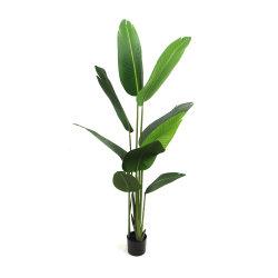 Горячая продажа оптовой искусственные зеленые деревья с горшочком для украшения для установки внутри помещений